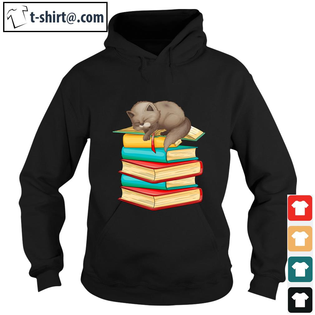 Cute Cat sleeping on books s h1234