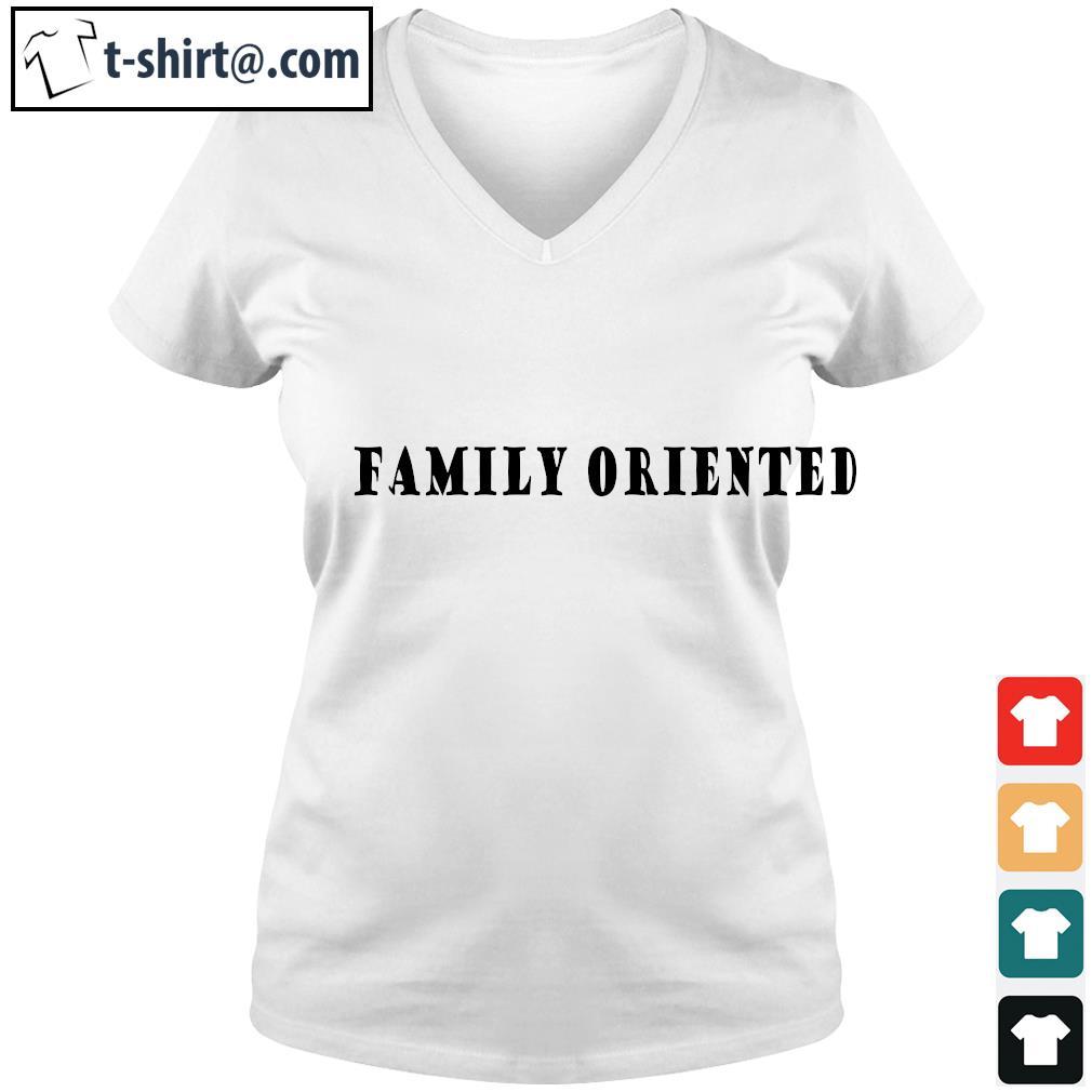 Family oriented s v-neck-t-shirt